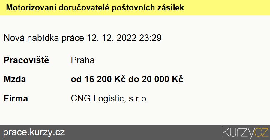 Motorizovaní doručovatelé poštovních zásilek, Motorizovaní doručovatelé poštovních zásilek